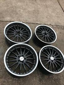 "Mercedes Audi Passat 19 "" inch staggered alloy wheels"