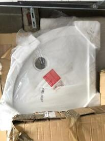 900x900 quadrant shower tray brand new white £45