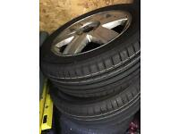 205 55 16 Megane alloys and tyres