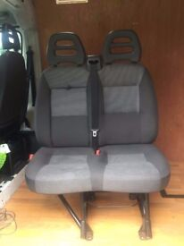 Peugeot Boxer van double passenger seat (same fitting as Fiat Ducato & Citroen Relay)