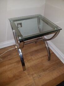 Coffee Table - Glass and chrome