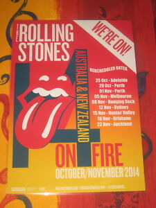 THE ROLLING STONES - OCT/NOV 2014  AUSTRALIAN  TOUR  -  PROMO TOUR POSTER