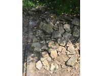 Rockery stone . There is a fair amount of stone available