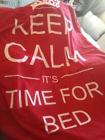 """Single """"keep calm it's time for bed"""" duvet cover"""