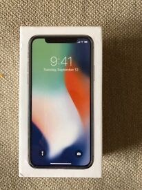 iPhone X silver 64gb new Vodafone