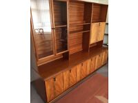 Beautiful Nathan solid wood wall unit. Buyer to collect