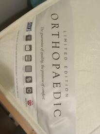 Orthopaedic mattress double - almost new REDUCED to £45