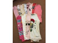 12 x girls aged5-6 long sleeved tops