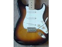 Fender Mexican/Standard Stratocaster Guitar - MIM Strat (2016) Sunburst/Maple - in perfect condition