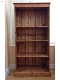 Solid handmade reclaimed wood bookcase