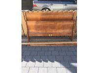Oak king size sleigh bed frame