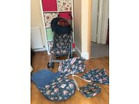 Cath Kidston Spray Flowers Maclaren Quest stoller Bundle