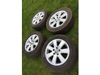 "4 x VW Passat 16"" Alloy wheels for 215/55R16 Extra Load tyres"