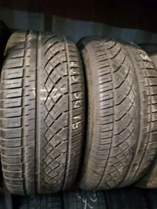 2 summer tires continental contiextremecontact 235/50r18 tt
