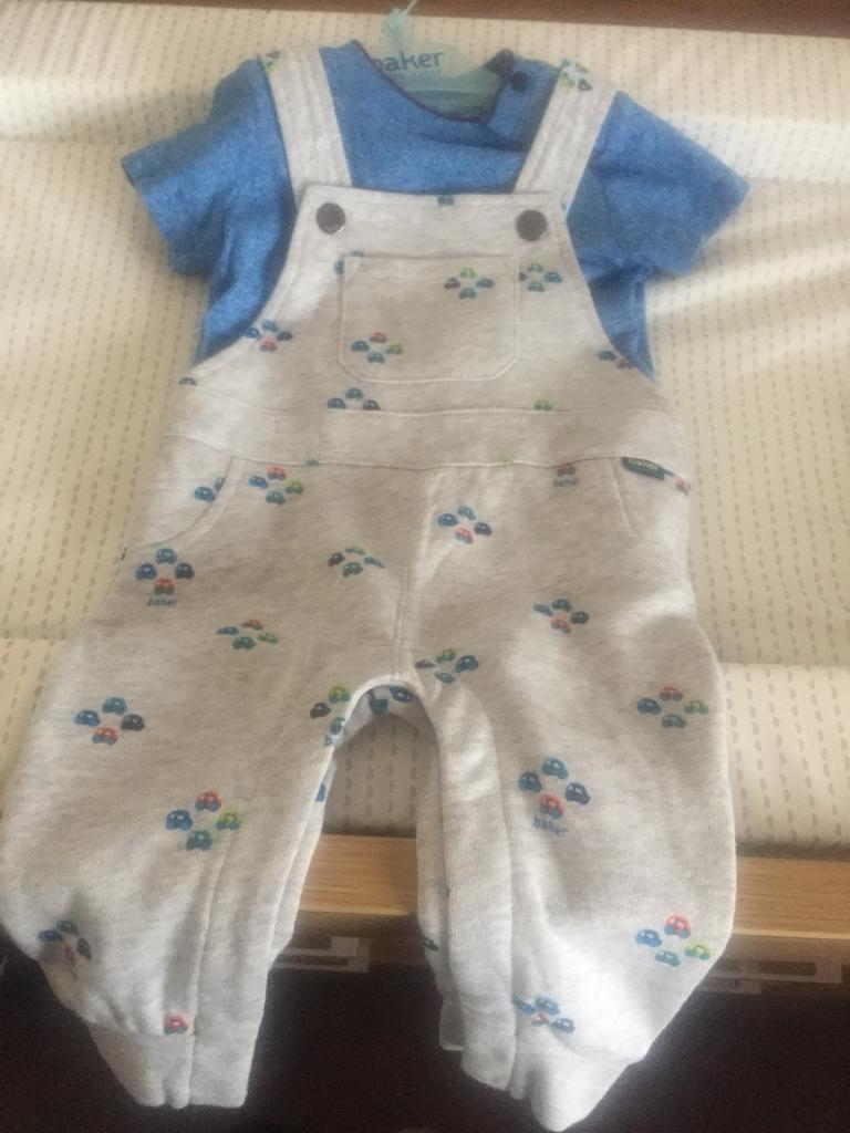 Ted baker Dungarees outfit 3-6 months