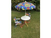 Children's garden table and chairs