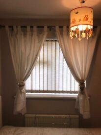 Nursery neutral curtains