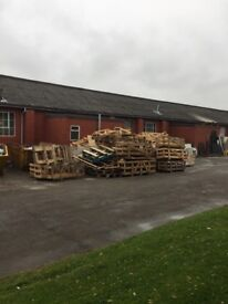 Free pallets, crates and wood for kindling / fires