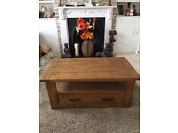 PERFECT CONDITION COFFEE TABLE, SIDEBOARD & MATCHING NEST OF TABLES
