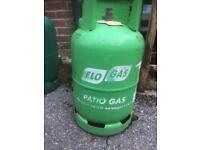 Empty 11kg flo gas bottle calor gas fitting