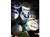 Job lot of trade paint tins