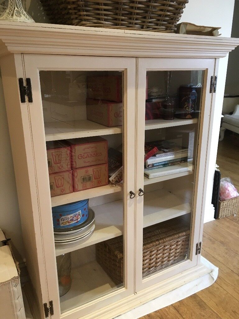 Vintage Glass Fronted Cabinet Original Hinges and Handles | in Hornchurch,  London | Gumtree