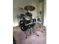 Tama 5 piece Rockstar Drum Kit, Stands, stool, cases + Zildjian cymbals