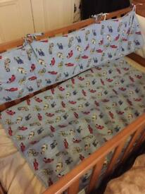 Bumper and quilt set £12