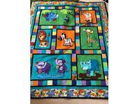 Large handmade quilt blanket/playmat