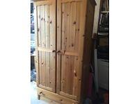 pine wardrobe £45