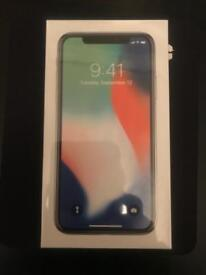 Brand new, unopened iPhone X. Silver 256 Gb. Unlocked and unopened. Bought from Apple.