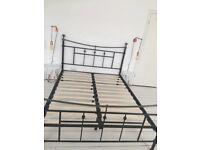 King Size Black Metal Bed