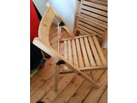 4 folding wooden chairs for sale