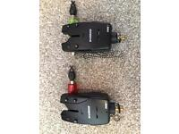 A Pair of Fox Warrior bite alarms and swingers