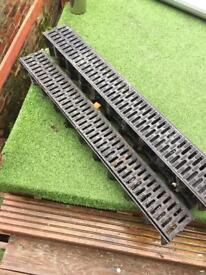 3 x 1m of Channel drainage system.