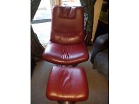 Swivel chair and footrest
