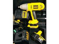 "DeWalt DW059 Cordless 18v NiCd & Lithium 1/2"" Heavy Duty Impact Wrench Kit"