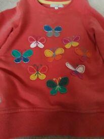 Girls orange butterfly jumper