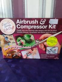 Cassie Brown's cake craft. Airbrush and compressor kit