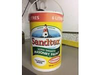 Sandtex Masonry Paint white