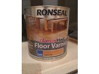 RONSEAL DIAMOND HARD LIGHT OAK SATIN FLOOR VARNISH 2.5L