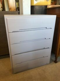 Chest of 5 drawers - painted