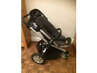Quinny Buzz travel system including Pram, Buggy & Maxi Cosi car seat & base