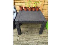 Rattan effect garden coffee table