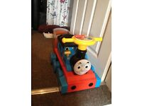 Motorised Thomas With Track trailer an aprox 20 pieces of track