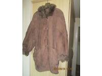Elegant Italien suede coat size 18 uk (44 It)