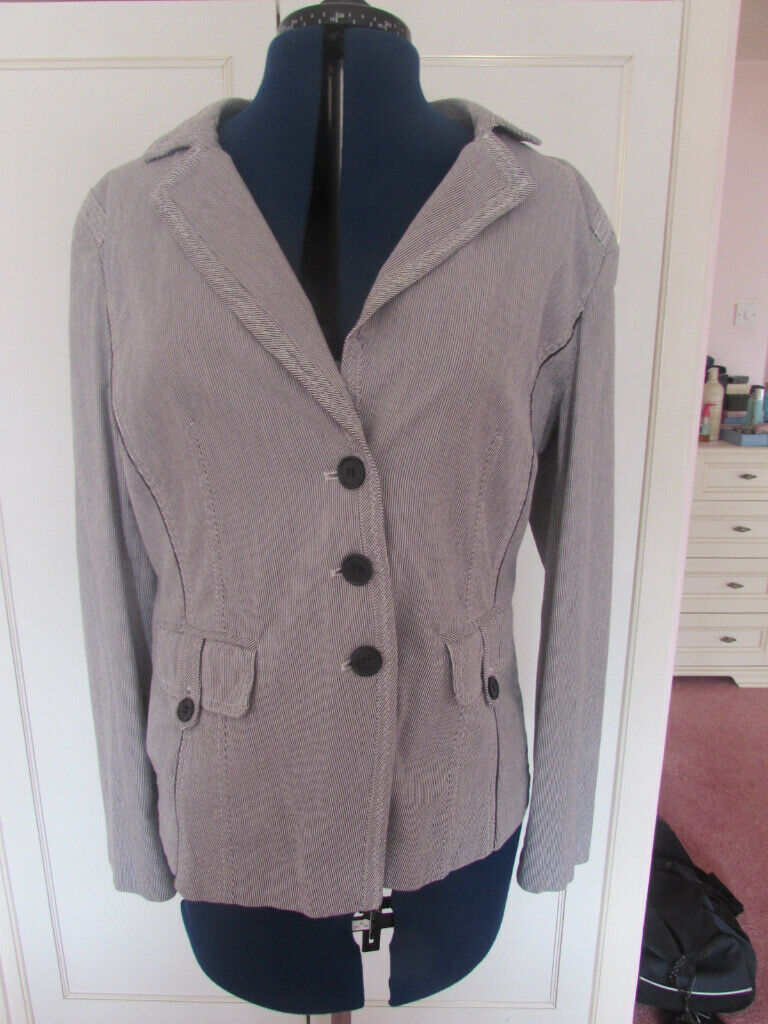 37a9472c Brandtex striped summer jacket Size 14 Excellent condition | in ...