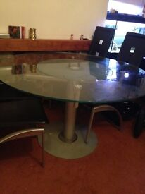 Glass Dining and chairs