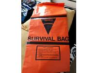 LARGE ORANGE SURVIVAL BAG GREAT FOR CAMPING
