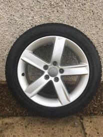 Audi wheels with Dunlop winter tyres